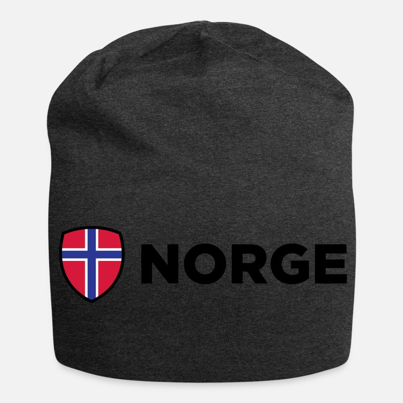 Norway Caps & Hats - National Flag Of Norway - Beanie charcoal grey