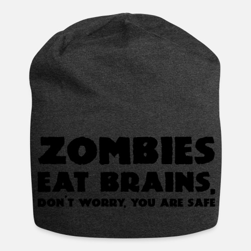 6bee8a352c8 Halloween ZOMBIES EAT BRAINS - Beanie. Front