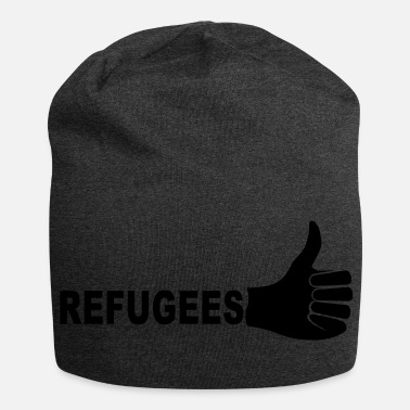 Refugees Welcome Refugees - Jersey Beanie
