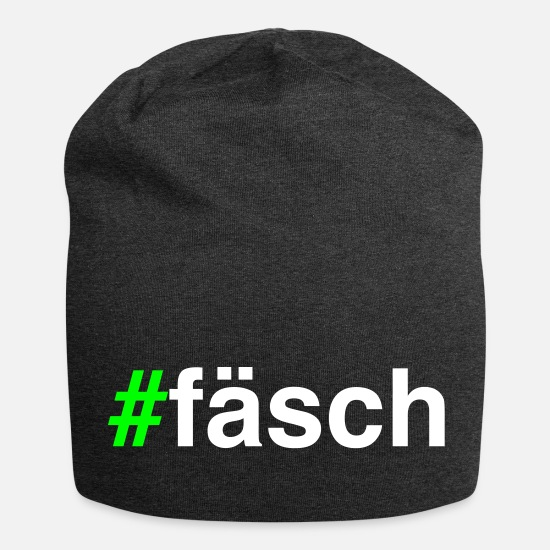 Modern Caps & Hats - # Fasch - hashtag fashion - Beanie charcoal grey