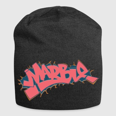 marble graffiti light red - Jersey Beanie