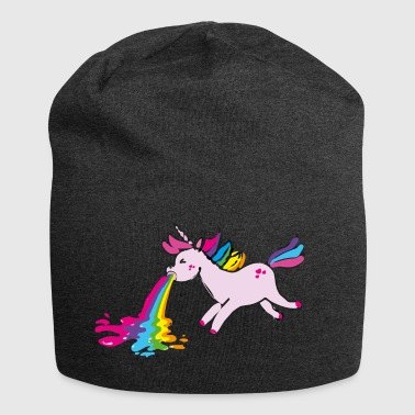 Unicorn Einhorn kotzend / puking unicorn - Jersey Beanie