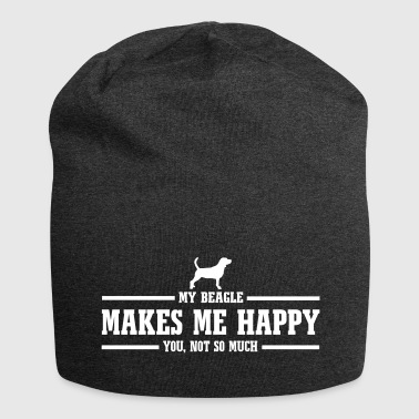 BEAGLE makes me happy - Jersey-Beanie