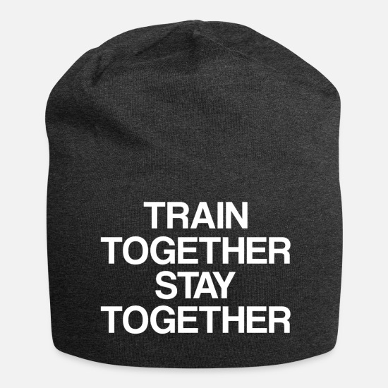 Couple Love Caps & Hats - Fitness couple - Beanie charcoal grey