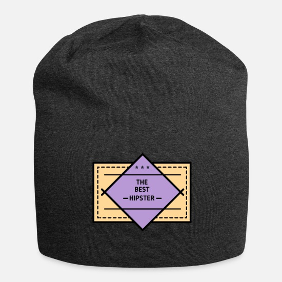 Beard Caps & Hats - Hipster: The Best Hipster - Beanie charcoal grey