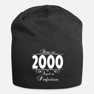 18th Birthday Born-in-Age-2000 Birthday - Jersey Beanie