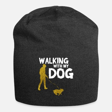 Dog Walking WALKING WITH MY DOG - Jersey Beanie