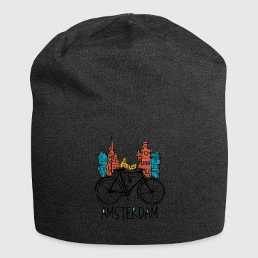 Amsterdam - Holland Nederland Retro Bicycle - Jersey-Beanie