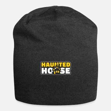 House Haunted House Haunted House Haunted House Halloween - Gorro holgado de tela de jersey