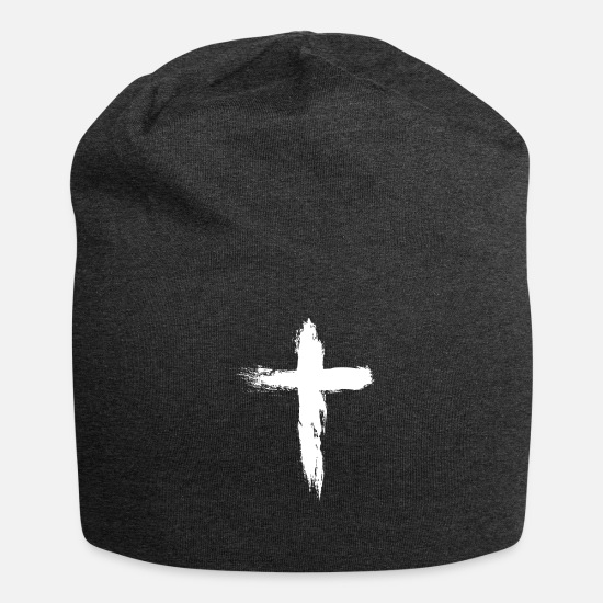 Jesus Caps & Mützen - Cross - Beanie Anthrazit