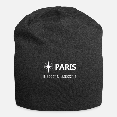 Geographic Paris France Geographical coordinates - Jersey Beanie