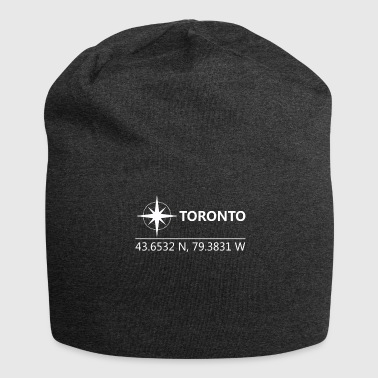 Geographic Toronto Canada Geographic coordinates - Jersey Beanie