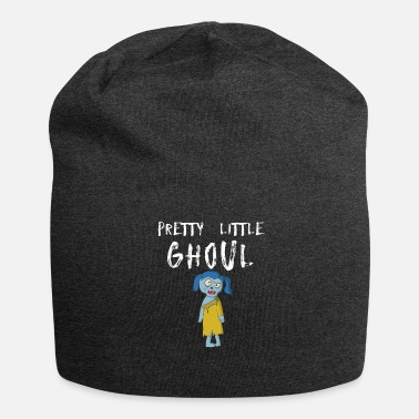 Trick Or Treat Pretty Little Ghoul Funny Halloween Zombie Girl Design - Jersey-Beanie