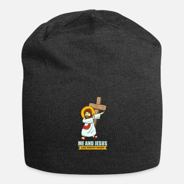 Cool Jesus Dabbing Faith funny picture Christian cool - Jersey-Beanie