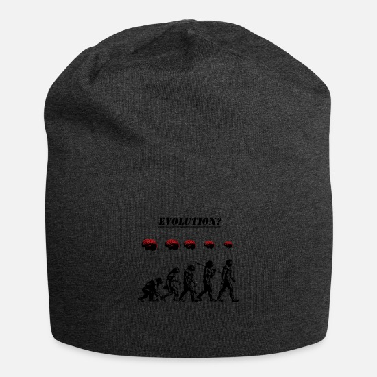 Stencil Caps & Hats - Evolution? - Beanie charcoal grey