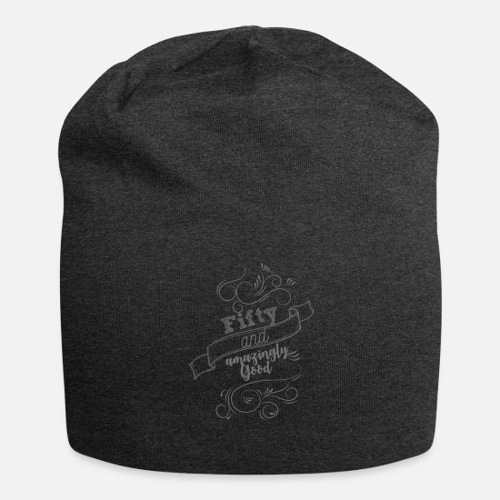 Birthday Caps & Hats - 50th birthday: Fifty and amazingly good - Beanie charcoal grey