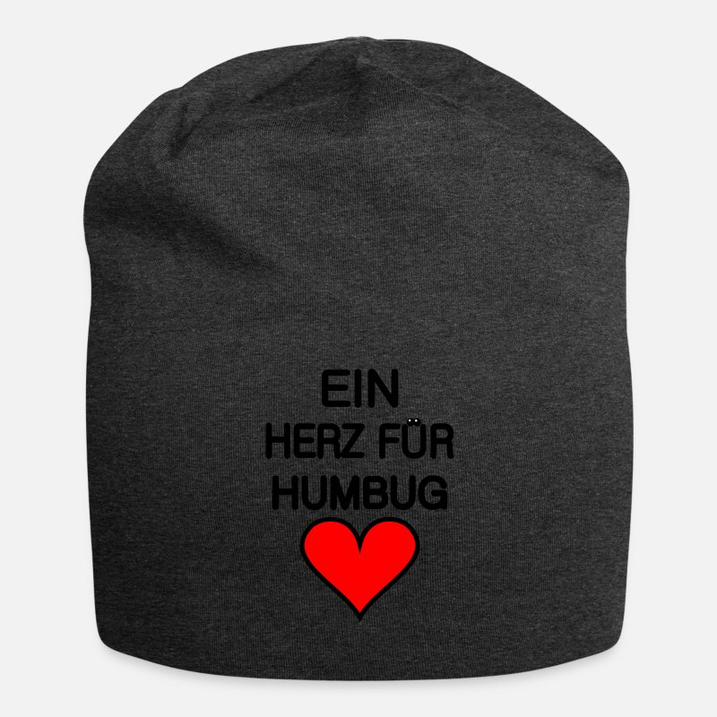 Mischief Caps & Hats - A heart for humbug - for bright backgrounds. - Beanie charcoal grey