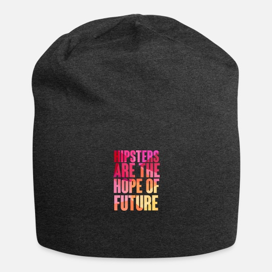 Beard Caps & Hats - Hipster: Hipsters are the Hope of Future - Beanie charcoal grey