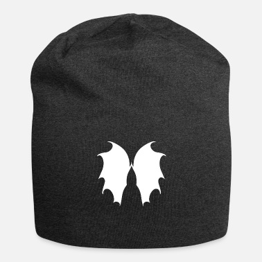 Belzebub Wing version 12 - in white - Jersey Beanie