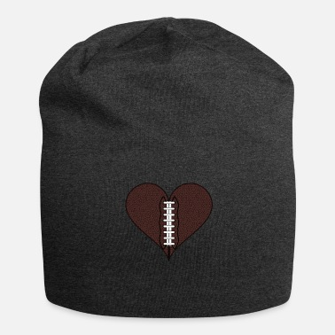 Rugby American football heart - Jersey Beanie