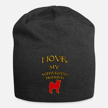Norvegese AMO IL MIO CANE Norvegese Buhund - Beanie in jersey