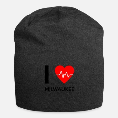 Milwaukee J'aime Milwaukee - J'adore Milwaukee - Bonnet en jersey