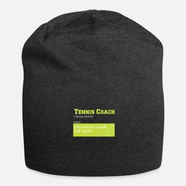 Tennis TENNIS COACH FUNNY SHIRT GIFT FOR PLAYERS - Jersey Beanie