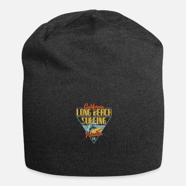 Long Beach California Long Beach Surfing Paradise - Gorro holgado de tela de jersey