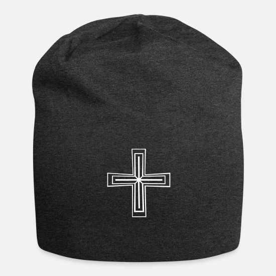 Orthodox Caps & Hats - Christian Cross - Beanie charcoal grey