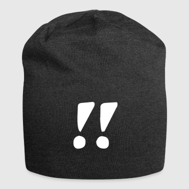 Exclamation mark exclamation mark - Jersey Beanie
