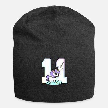 11th Birthday 11 11th birthday unicorn - Jersey Beanie