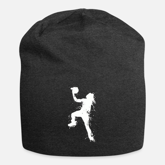 Basket Caps & Hats - Slam dunking basketball player - Beanie charcoal grey