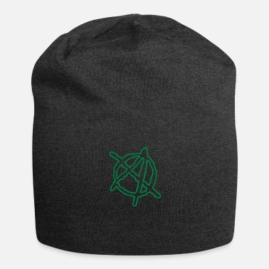 Toxin Anarchy Outline Hand Drawn - Jersey Beanie