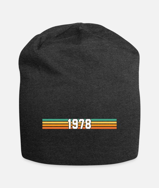 78 Caps & Hats - retro 1978 - Beanie charcoal grey