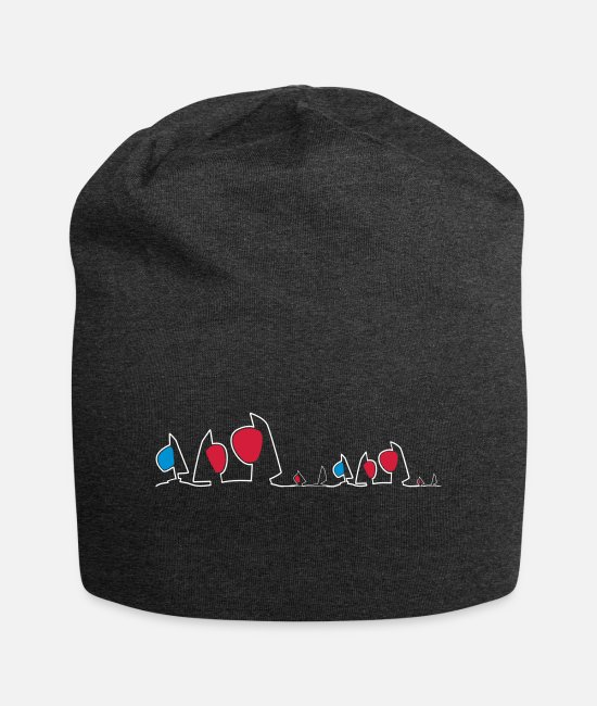 Sail Boat Caps & Hats - Regatta skyline - Beanie charcoal grey