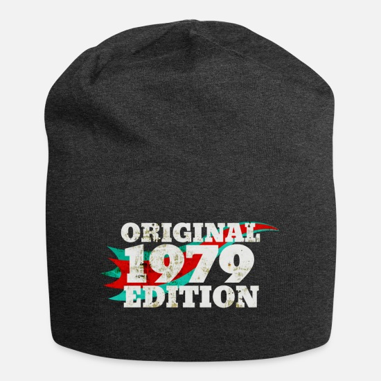 Birth Caps & Hats - 1979 year of birth - Beanie charcoal grey