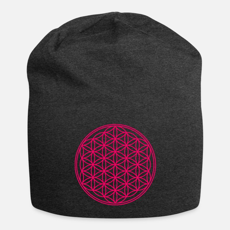 Life Flower Caps & Hats - flower of Life - Beanie charcoal grey
