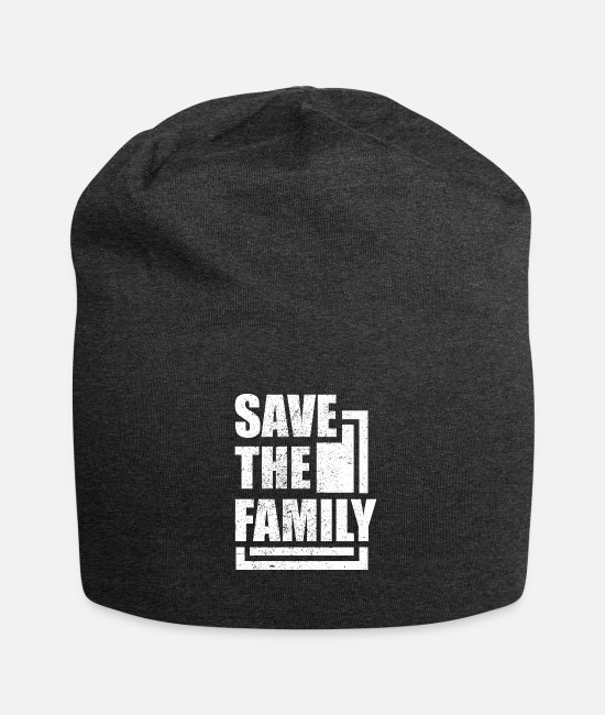 Family Caps & Hats - Family - Save The Family - Beanie charcoal grey