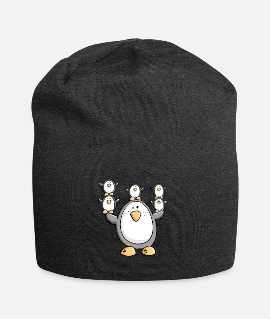 Playing Caps & Hats - Funny penguin Family I Penguins - Beanie charcoal grey