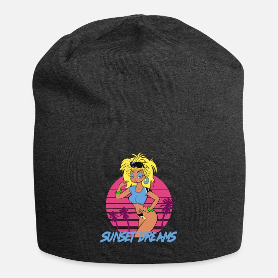 Late Caps & Mützen - Sunset Dreams Pinup Yellow - Beanie Anthrazit