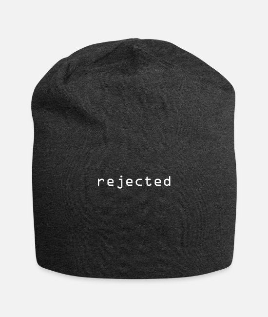 Against Caps & Hats - Rejected Reject rejection - Beanie charcoal grey