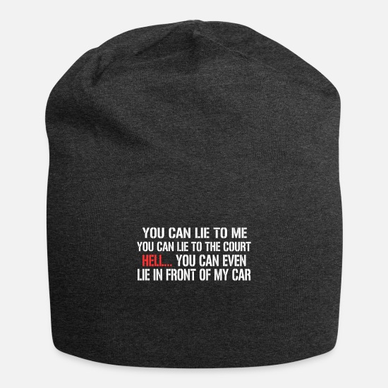 You Caps & Hats - You Can Lie To Me - Beanie charcoal grey