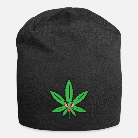 Rygning Kasketter & huer - Cannabis onde tunge - Beanie charcoal