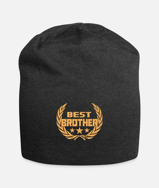 Big Sister Caps & Hats - Best brother award - Beanie charcoal grey