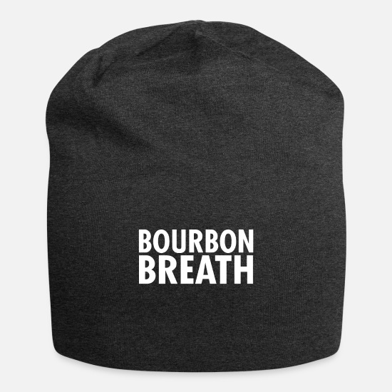 Whiskey Gift Set Caps & Hats - Bourbon Breath - Beanie charcoal grey