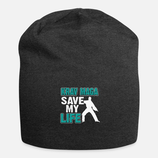 Birthday Caps & Hats - Krav Maga save my life - Beanie charcoal grey