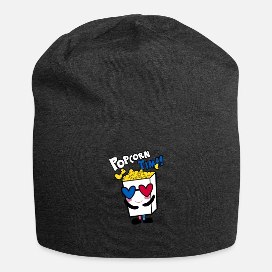 Gift Idea Caps & Hats - Popcorn Time Gift Shirt - Beanie charcoal grey