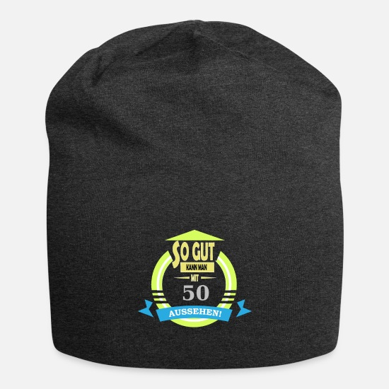 Look Good Caps & Hats - You can look so good at fifty - Beanie charcoal grey