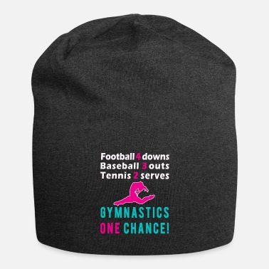 Coach Awesome Gymnastics one chance girls gift design - Beanie