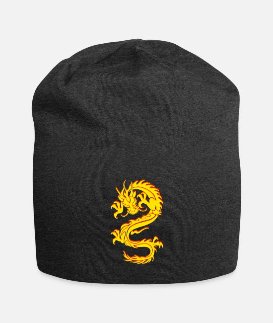 Mma Caps & Hats - Chinese Dragon Dragon Tribal Tattoo - Beanie charcoal grey